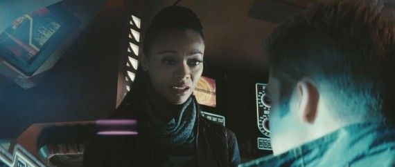 Star Trek Into Darkness Trailer Still Uhura Outgunner 570x242 Star Trek Into Darkness Trailer Still Uhura Outgunner