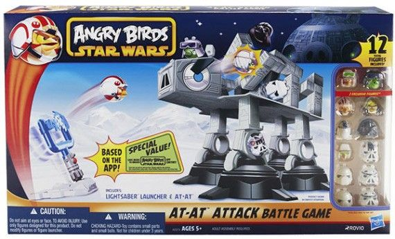 Star Wars Angry Birds AT AT Attack Battle Game 570x345 Star Wars Angry Birds AT AT Attack Battle Game