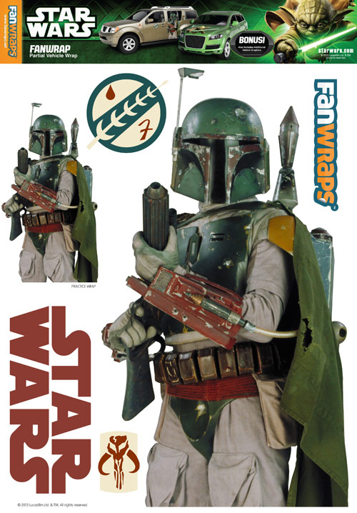 Star Wars Boba Fett FanWraps Car Decal Star Wars Boba Fett FanWraps Car Decal