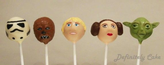 Star Wars Cake Pops1 570x226 SR Geek Picks: Tiny Adventure Time Art, Star Wars Cake Pops & James Bond Art