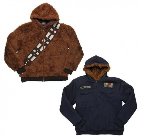 Star Wars Chewbacca Han Solo Reversible Hoodie 570x561 SR Geek Picks: Dredd Fan Comic, Superhero Swimwear and More