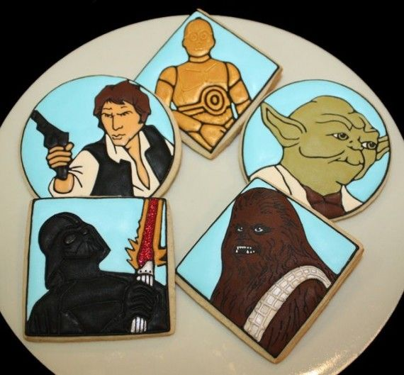 Star Wars Cookies 570x529 SR Geek Picks: Batman in Classic Movie Scenes, Star Wars Cookies & More