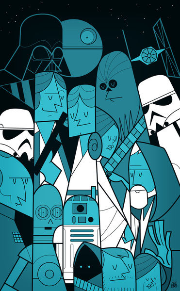 Star Wars Print By Ale Giorgini SR Geek Picks: Sesame Street Batman, Breaking Bad Print, Bane Memes & More!