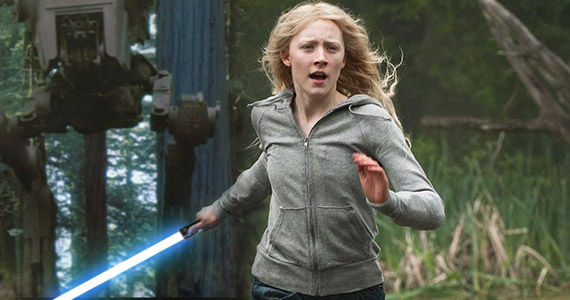 Star Wars Saoirse Ronan Lightsaber Star Wars: Saoirse Ronan Talks Auditioning With Lightsaber For Episode 7