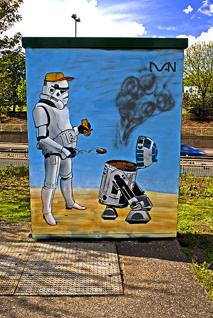 Star Wars Stormtrooper BBQ Graffiti Star Wars Stormtrooper BBQ Graffiti