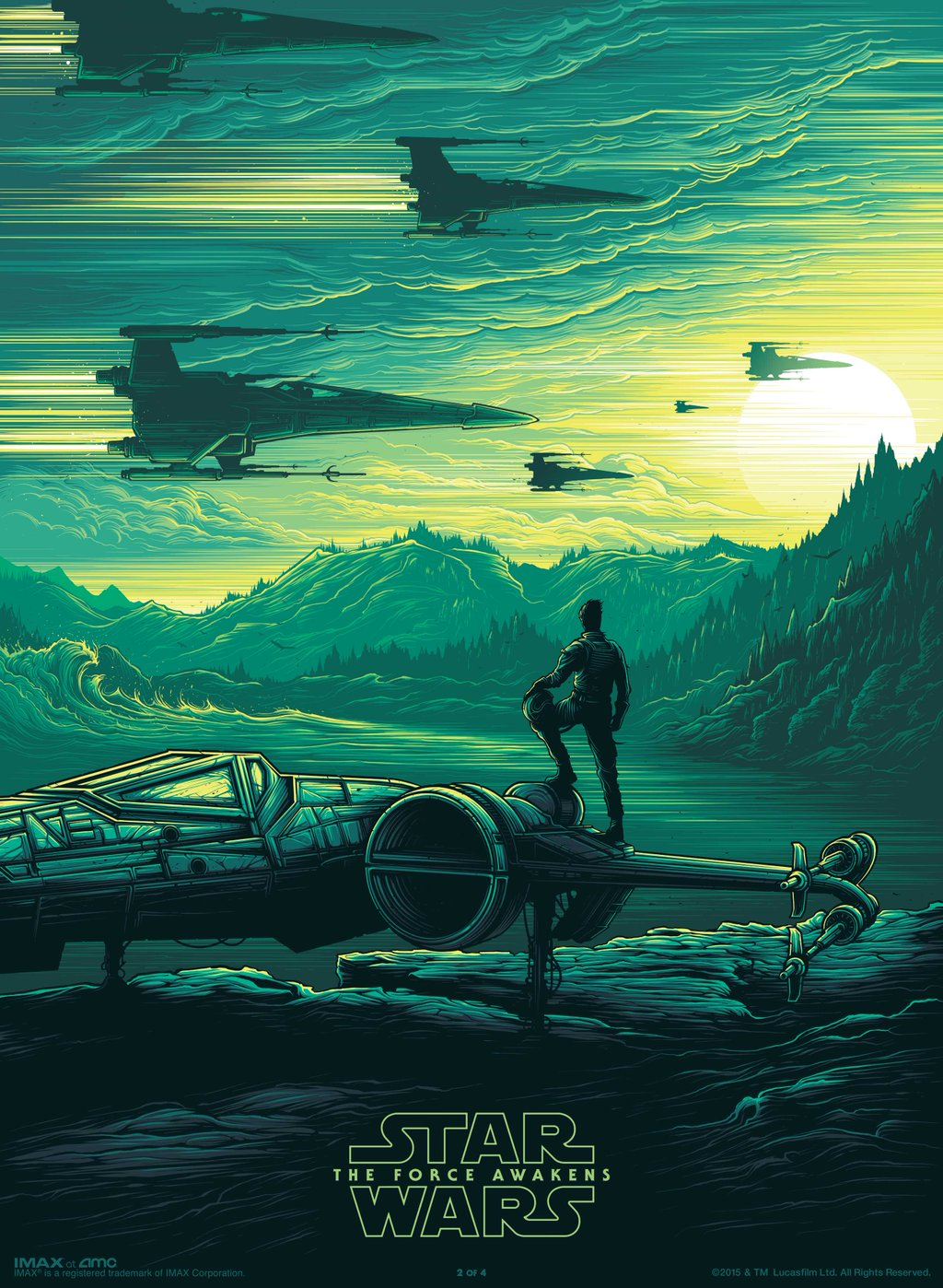 star wars 7 new imax poster revealed get it free at amc theatres this weekend. Black Bedroom Furniture Sets. Home Design Ideas