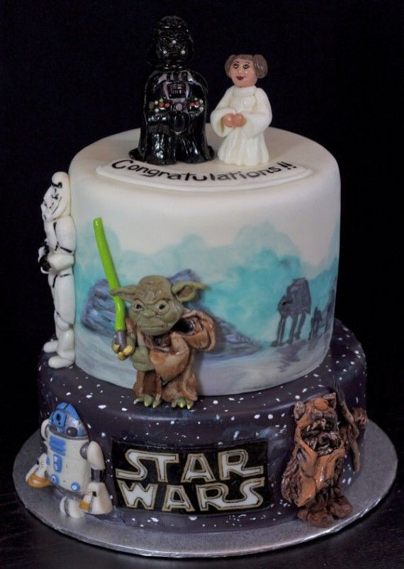 Star Wars Wedding Cake1 570x802 SR Geek Picks: First Person Mario, A Gandalf Intervention, April ONeil Cosplay & More!