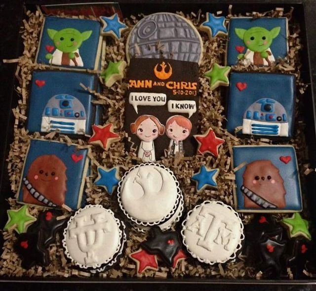 Star Wars Wedding Cookies Star Wars Wedding Cookies