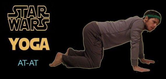 Star Wars Yoga AT AT 570x271 SR Geek Picks: Video Games In Movies, Man of Steel Minecraft Trailer, Star Wars Yoga & More!