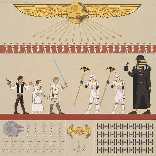Star Wars hieroglyphics SR Geek Picks: Nolan Animated Tribute, Die Hard Claymation, Best Picture Oscars & More