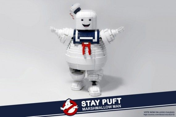 Stay Puft LEGO Set 570x379 SR Geek Picks: A Stay Puft LEGO Set, Back to the Future Revisited and More