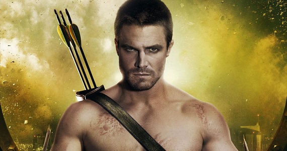 Stephen Amell Arrow season 2 poster Will Arrow Crossover With the DC Justice League Movie Universe?