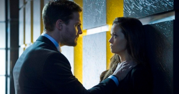 Stephen Amell and Summer Glau in Arrow Season 2 Episode 18 Arrow: Slade Runs A Real Tight Ship