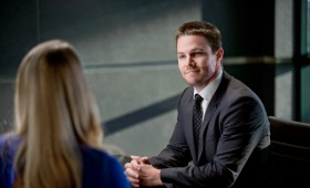 Stephen Amell as Oliver in Arrow 280x170 Arrow Season 2 Premiere Images & Synopsis: Oliver vs. the Hostile Takeover