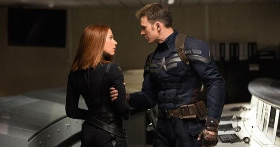 Steve Rogers and Black Widow in Captain America the Winter Soldier Captain America: The Winter Soldier TV Trailer: Three Heroes are Better Than One