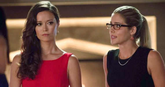 Summer Glau and Emily Bett Rickards in Arrow Crucible Arrow: Black Canary Revealed   What Did You Think?
