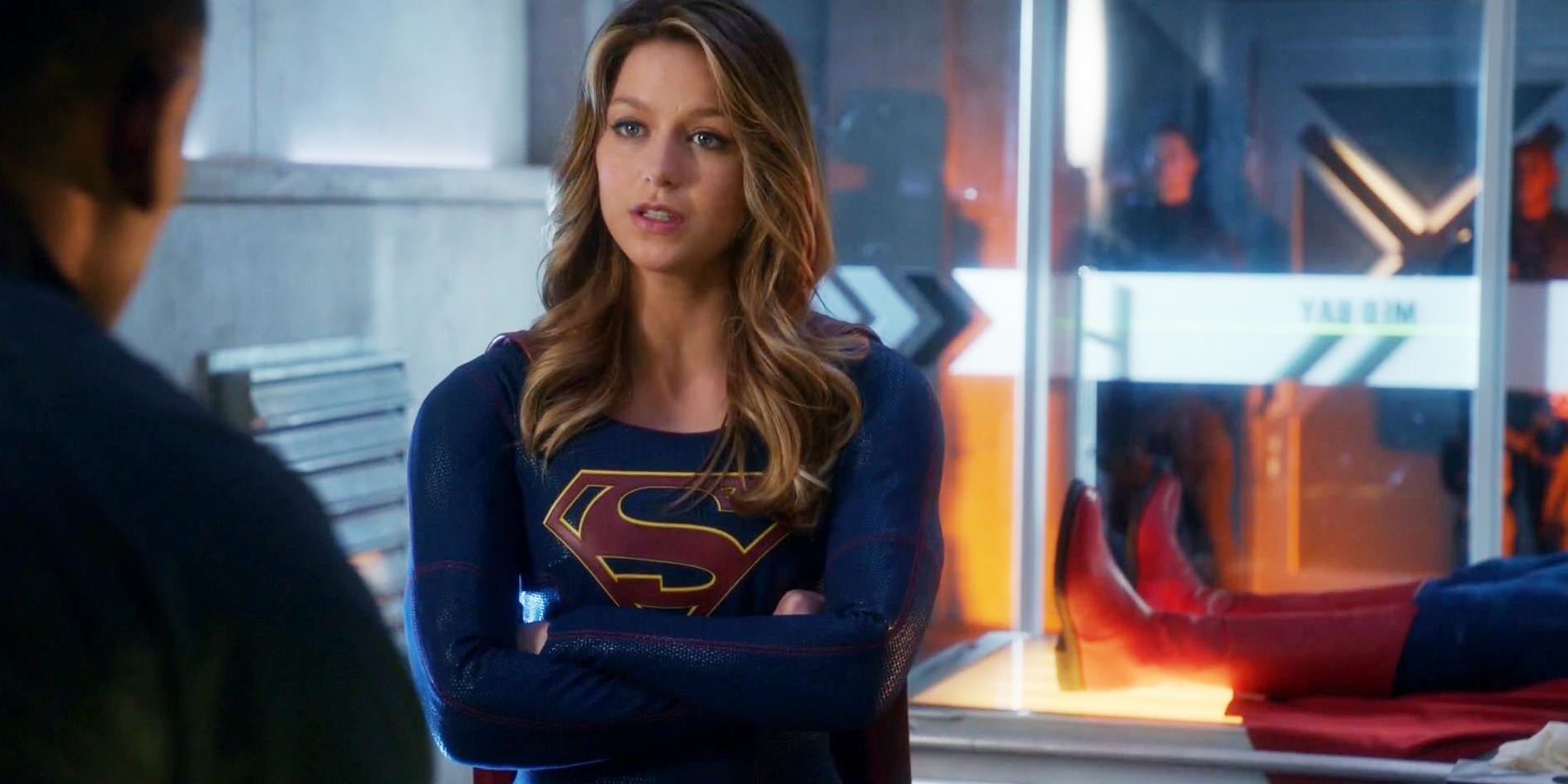 Supergirl TV Superman Boots Cameo Supergirl Producer: Warner Bros. Was 'Supportive' of Superman Plan