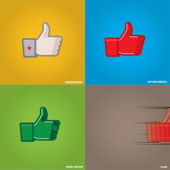 Superhero Facebook Like Icons 2 570x570 SR Geek Picks: How Oblivion Shouldve Ended, Superhero Life Expectancies & More