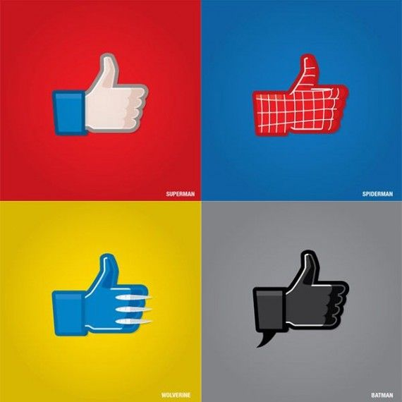 Superhero Facebook Like Icons 570x570 Superhero Facebook Like Icons