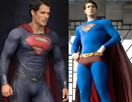 Superman Henry Cavill vs. Brandon Routh