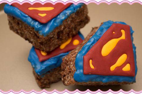 Superman Rice Krispie Treats Superman Rice Krispie Treats