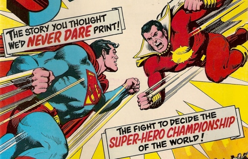 Superman Shazam Comic Fight How Man of Steel Killed The Shazam Movie   For Now