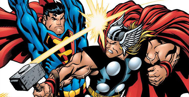 Superman vs Thor Marvel vs. DC: Who Will Surrender Their May 2016 Release Date?