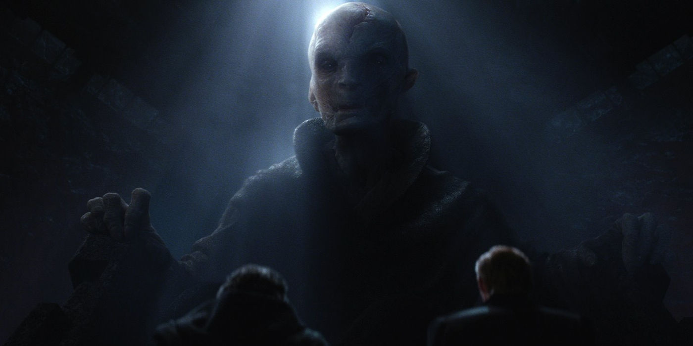 Supreme Leader Snoke in Force Awakens