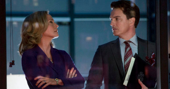 Susanna Thompson and John Barrowman in Arrow Trust But Verify Arrow Season 1, Episode 11 Review – A Question of Loyalty
