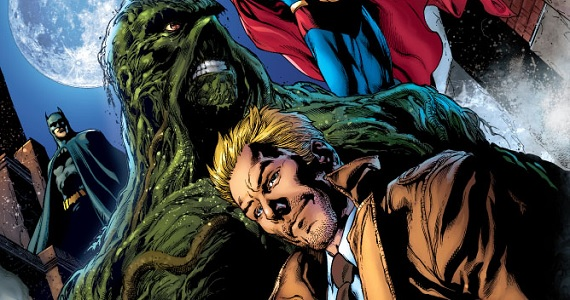 Swamp Thing and Constantine on the cover of Brightest Day Aftermath Guillermo Del Toro on Justice League Dark & Bringing Comic Book Mythology to Life