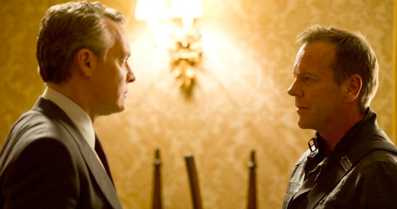 Tate Donovan and Kiefer Sutherland in 24LAD Episode 6 24: Live Another Day : Lets Twist Again