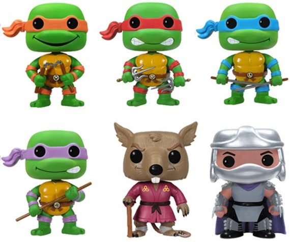 Teenage Mutant Ninja Turtles Pop Vinyl Figures 570x475 SR Geek Picks: Tiny Adventure Time Art, Star Wars Cake Pops & James Bond Art