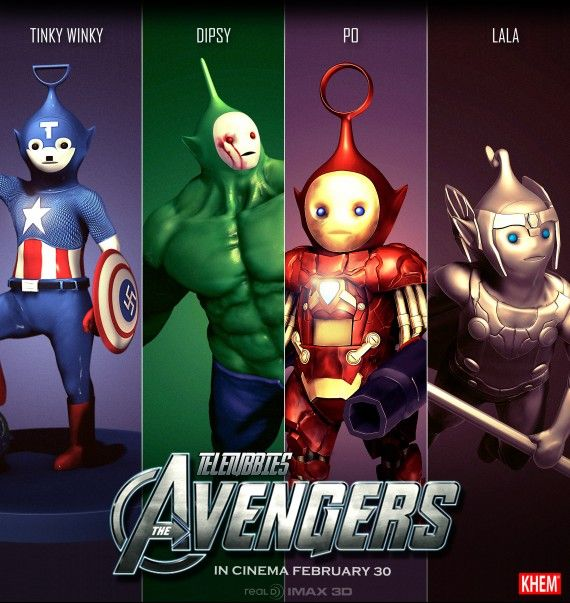 Teletubbies Avengers 570x603 SR Geek Picks: Red Wedding Alternate Ending, Teletubbie Avengers & More