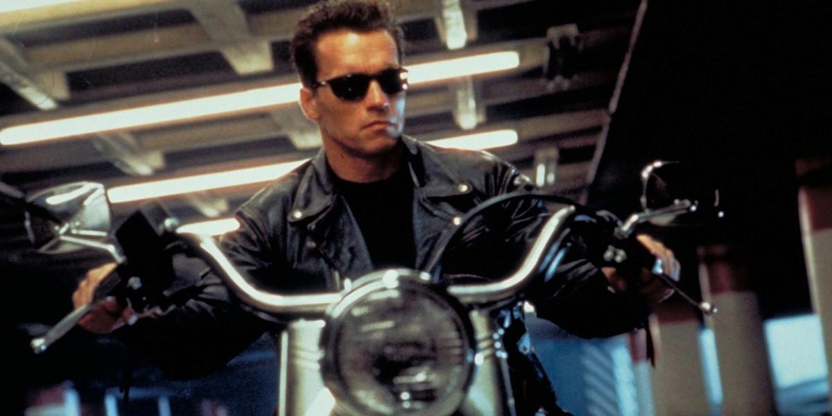 Arnold Schwarzeneggar in Terminator 2