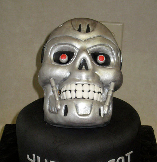 Terminator Cake SR Geek Picks: History Of The Superman Logo, The Perfect Joker, Famous Movie Quotes & More