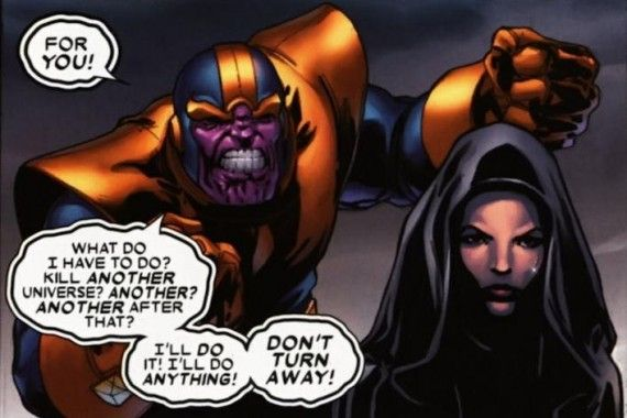 Thanos Death Marvel Comics 570x380 Vin Diesel Says His Marvel Role Involves a Different Kind of Love Story