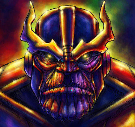 Thanos in 'The Avengers' (art by_QuinteroART)