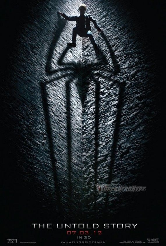The Amazing Spider Man Teaser Poster 570x845 The Amazing Spider Man Teaser Poster Promises The Untold Story