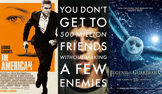 The American The Social Network Legend of the Guardians movie posters New Posters: The American, The Social Network, Legend of the Guardians