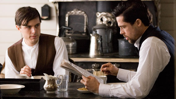 The Assassination of Jesse James Casey Affleck and Brad Pitt Pitt, Affleck and Dominik Might Re team for Cogans Trade
