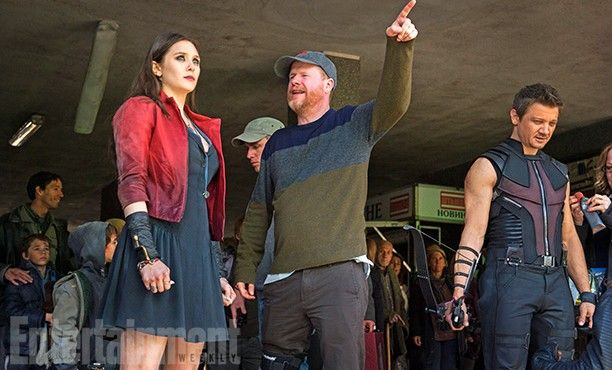 The Avengers 2 Age of Ultron Photo EW BTS Twins 612x370 First Official Avengers 2 Photos Include Don Cheadle and New Costumes