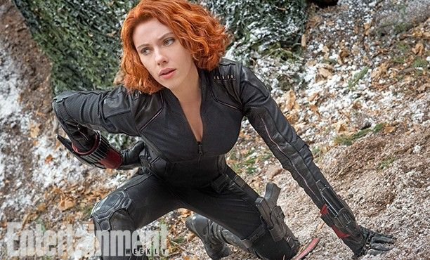 The Avengers 2 Age of Ultron Photo EW Black Widow 612x370 First Official Avengers 2 Photos Include Don Cheadle and New Costumes