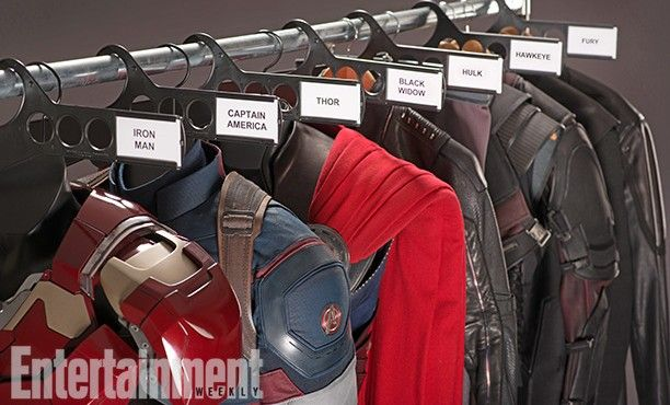 The Avengers 2 Age of Ultron Photo EW Costumes 612x370 First Official Avengers 2 Photos Include Don Cheadle and New Costumes