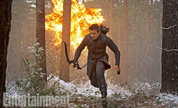 The Avengers 2 Age of Ultron Photo EW Hawkeye 612x370 First Official Avengers 2 Photos Include Don Cheadle and New Costumes