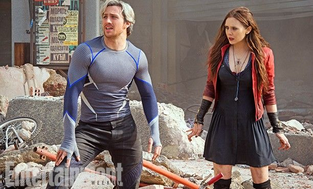 The Avengers 2 Age of Ultron Photo Scarlet Witch Quicksilver  612x370 First Official Avengers 2 Photos Include Don Cheadle and New Costumes