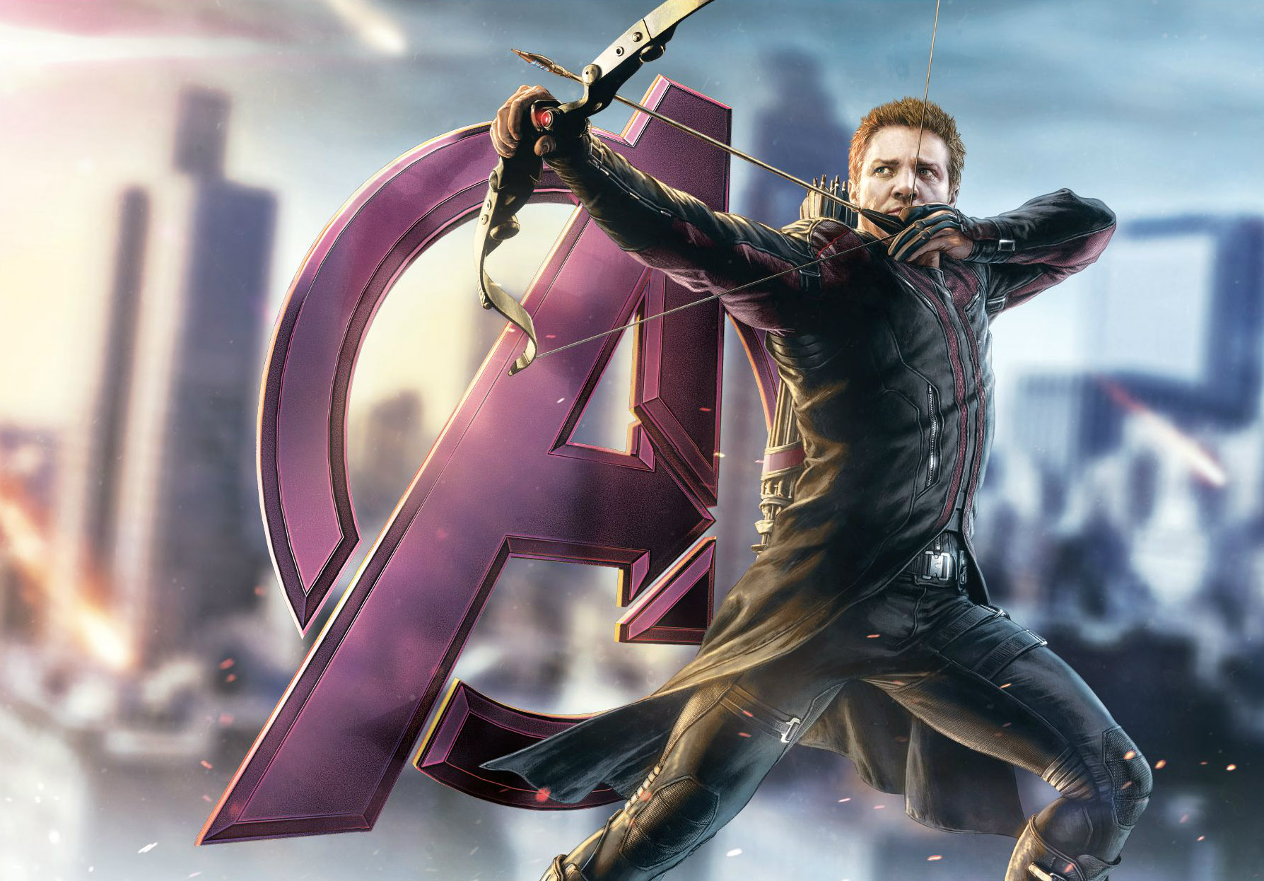 Jeremy Renner Suits Up As Hawkeye For 'Avengers 2′ Poster
