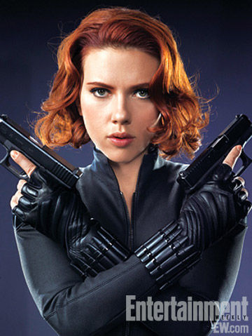 The Avengers Black Widow Headshot The Avengers Black Widow Headshot