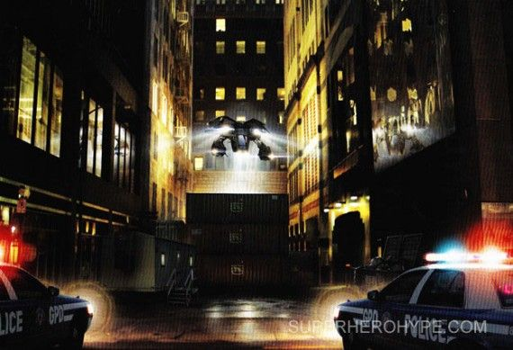 The Batwing in Gotham City 570x389 The Batwing in Gotham City