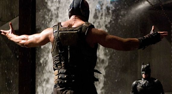 The Dark Knight Rises Bane vs. Batman header Dark Knight Rises Rough Cut Running Time & Comic Con Rumors [UPDATED]