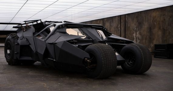 The Dark Knight Rises Batmobile Tumbler The Tumbler Batmobile Returns in The Dark Knight Rises Set Photo